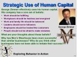 strategic use of human capital