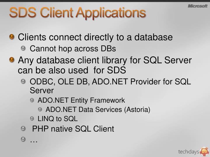 SDS Client Applications