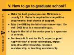v how to go to graduate school