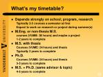 what s my timetable