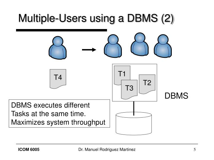 Multiple-Users using a DBMS (2)