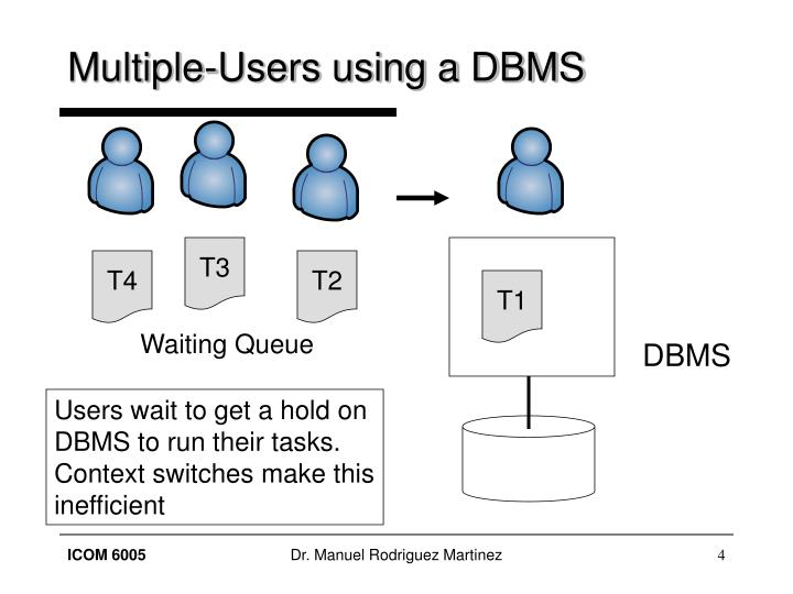 Multiple-Users using a DBMS