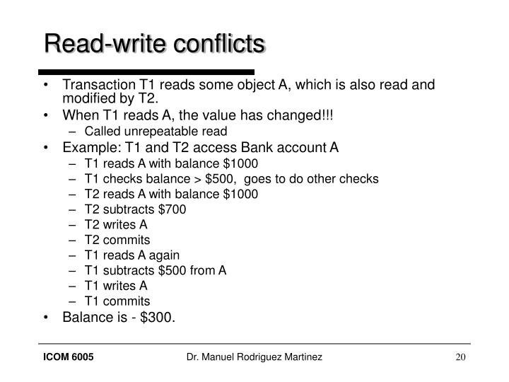 Read-write conflicts