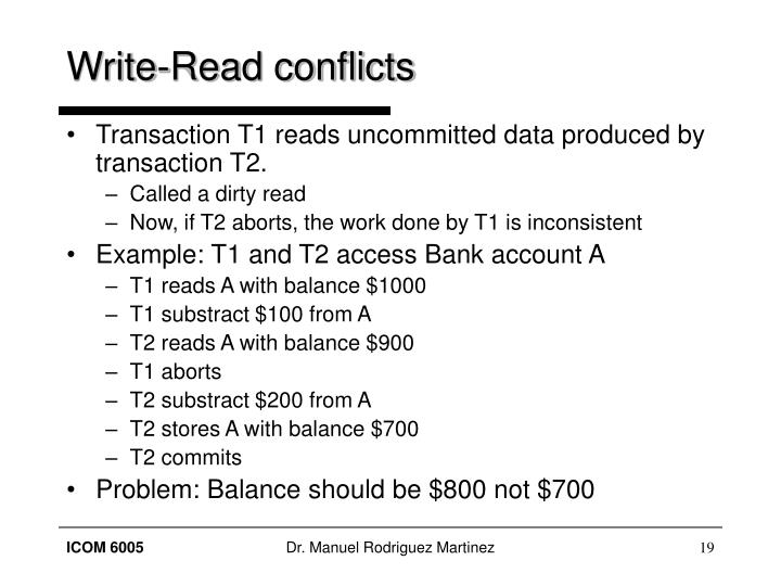 Write-Read conflicts