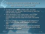 creating a work breakdown structure with summary tasks cont d