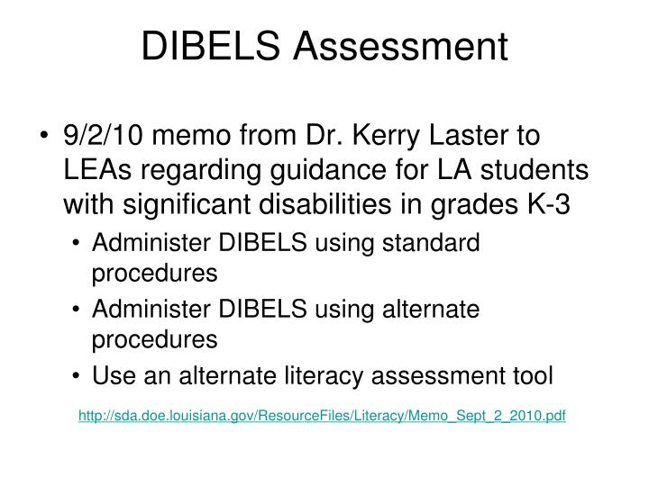 DIBELS Assessment