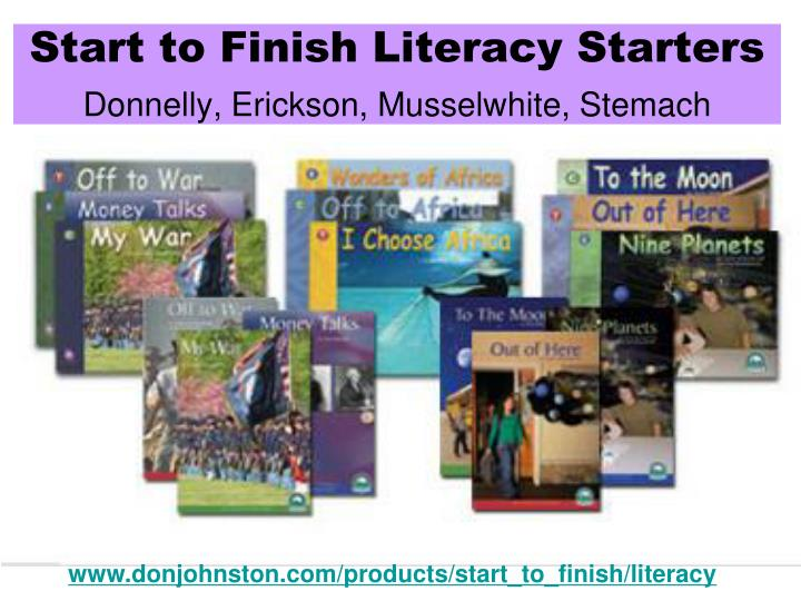 Start to Finish Literacy Starters