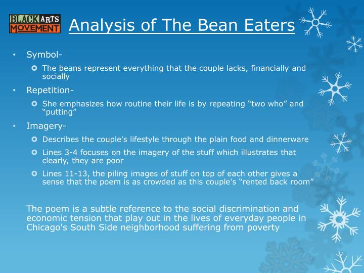 Analysis of The Bean Eaters