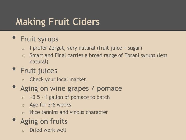 Making Fruit Ciders