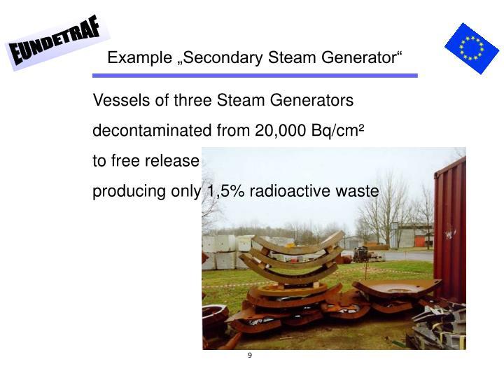 "Example ""Secondary Steam Generator"""