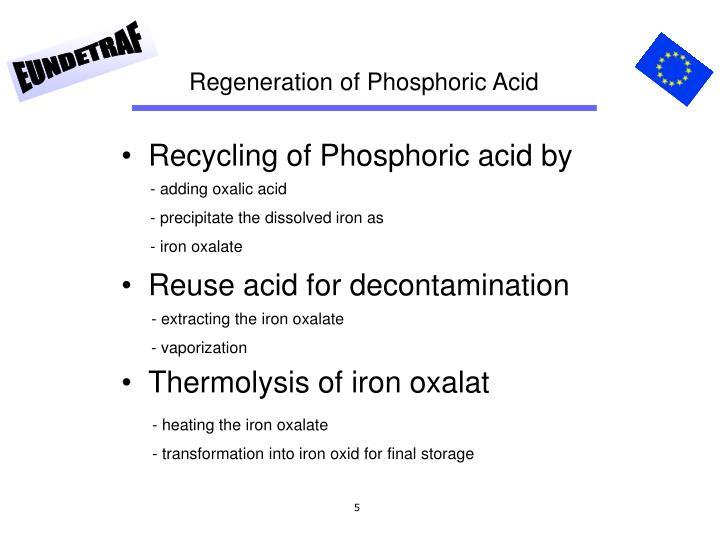 Regeneration of Phosphoric Acid
