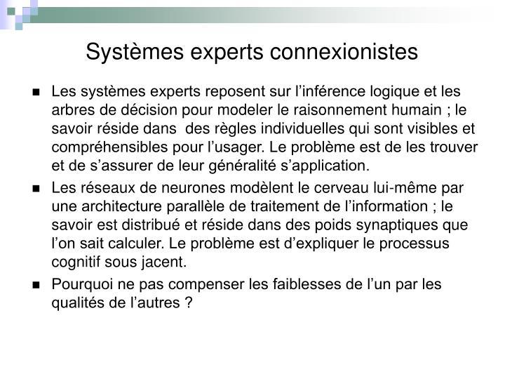 Systèmes experts connexionistes