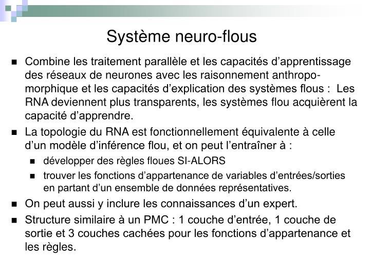 Système neuro-flous