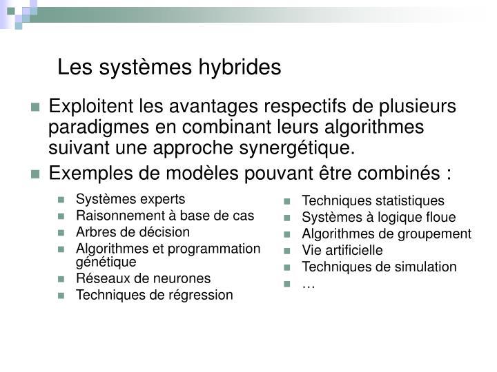 Les systèmes hybrides