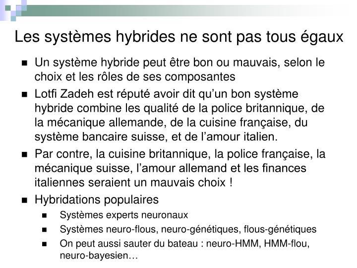 Les systèmes hybrides ne sont pas tous égaux