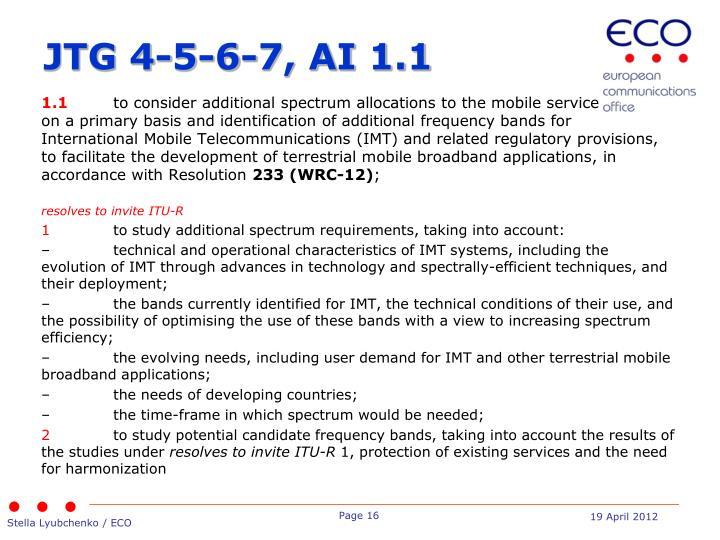 JTG 4-5-6-7, AI 1.1