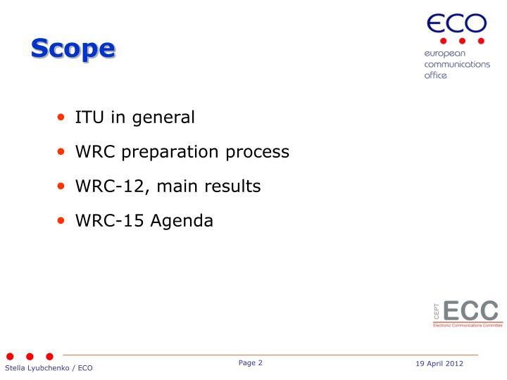 ITU in general