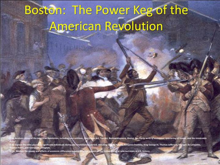 Boston the power keg of the american revolution