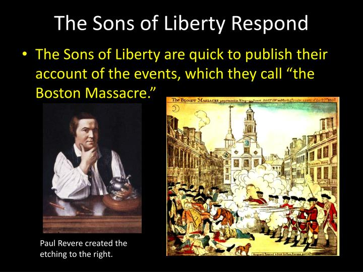 The Sons of Liberty Respond