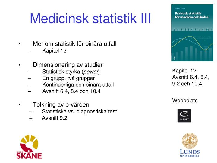Medicinsk statistik III