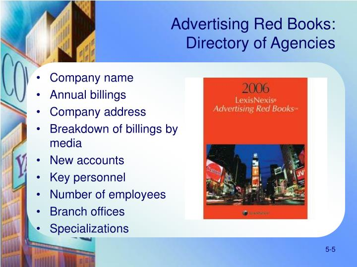 Advertising Red Books: