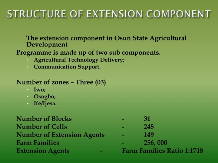 STRUCTURE OF EXTENSION COMPONENT