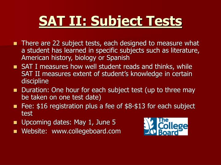 SAT II: Subject Tests