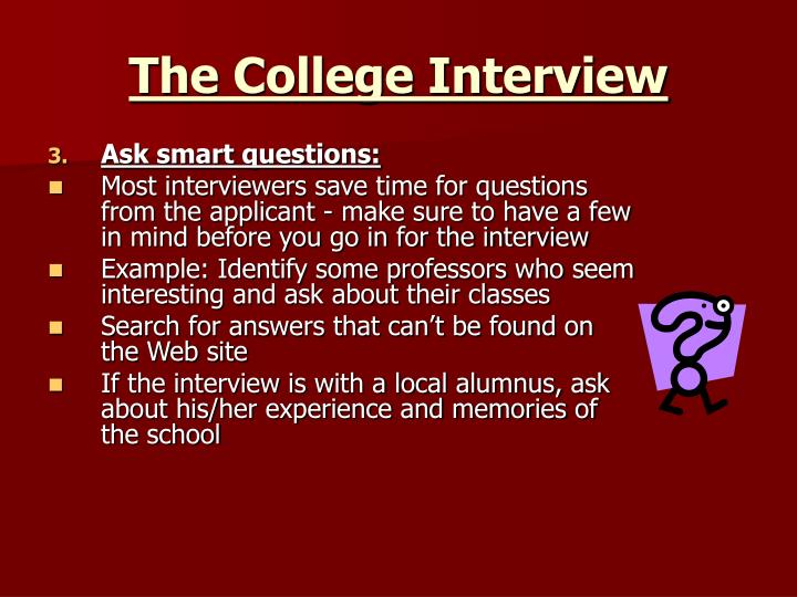 The College Interview