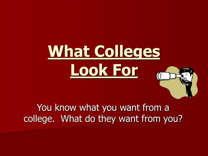 What Colleges