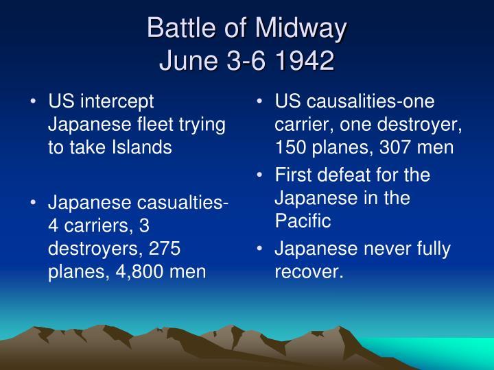 US intercept Japanese fleet trying to take Islands