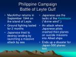 philippine campaign battle of leyte gulf