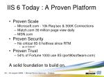 iis 6 today a proven platform