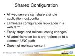 shared configuration