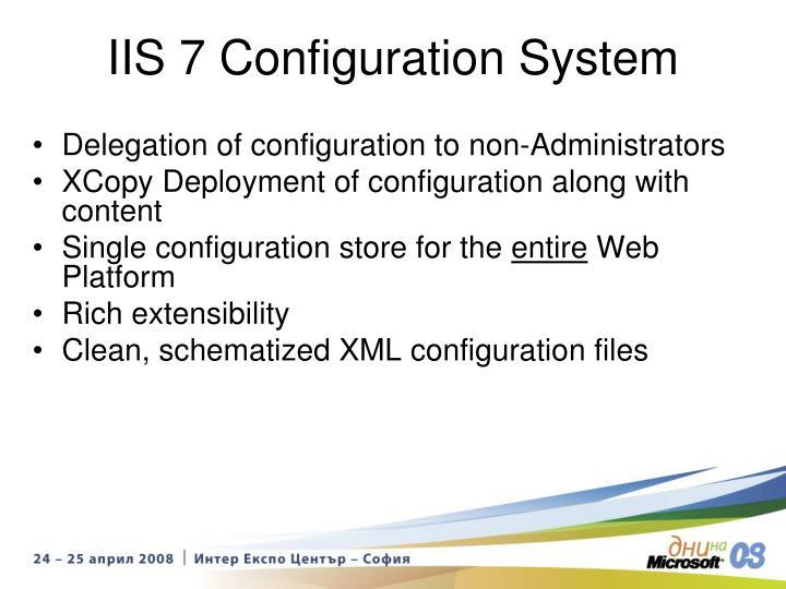 IIS 7 Configuration