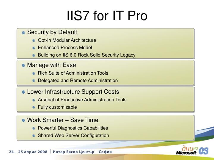 IIS7 for IT Pro