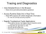 tracing and diagnostics