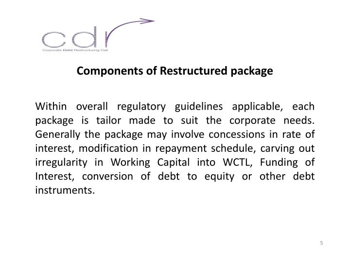 Components of Restructured package