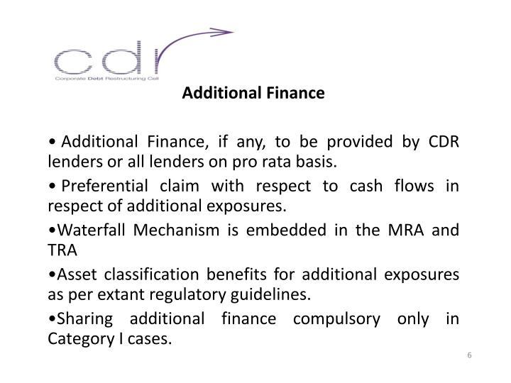 Additional Finance