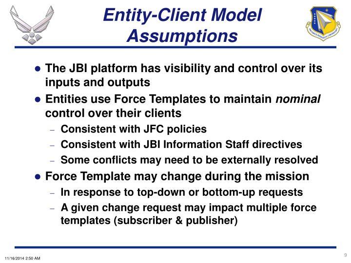 Entity-Client Model