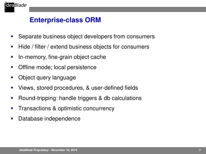Enterprise-class ORM