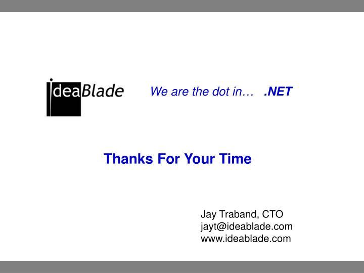 Jay Traband, CTO