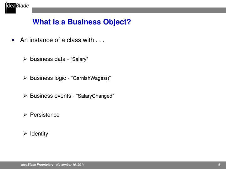 What is a Business Object?
