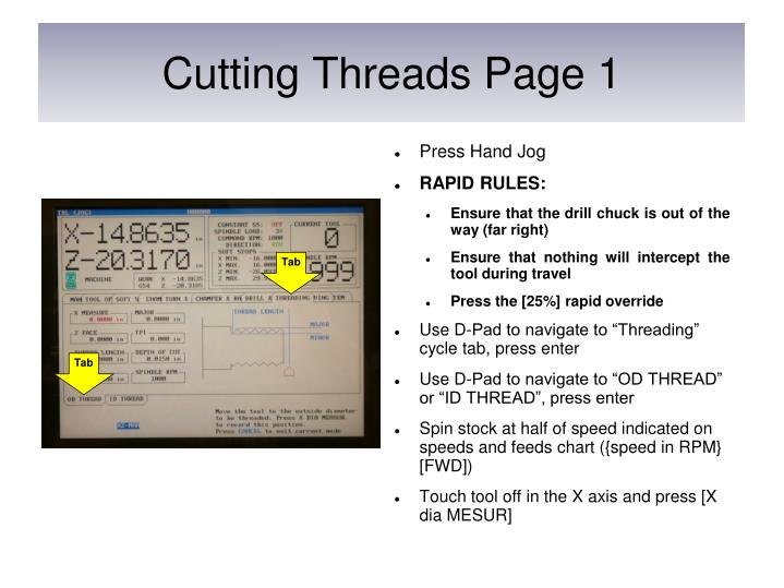 Cutting Threads Page 1