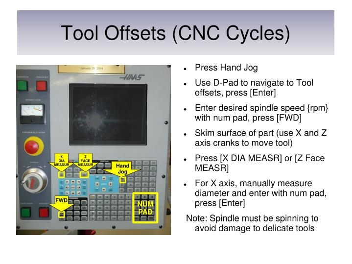 Tool Offsets (CNC Cycles)