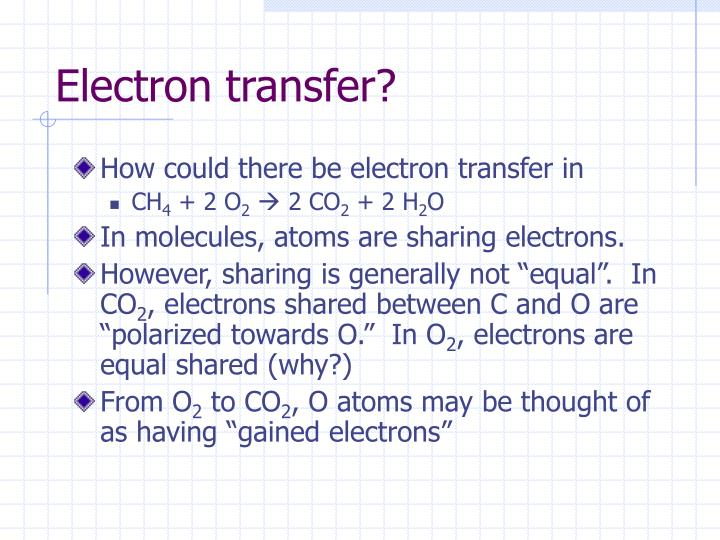 Electron transfer?