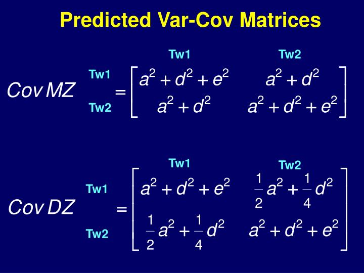 Predicted Var-Cov Matrices