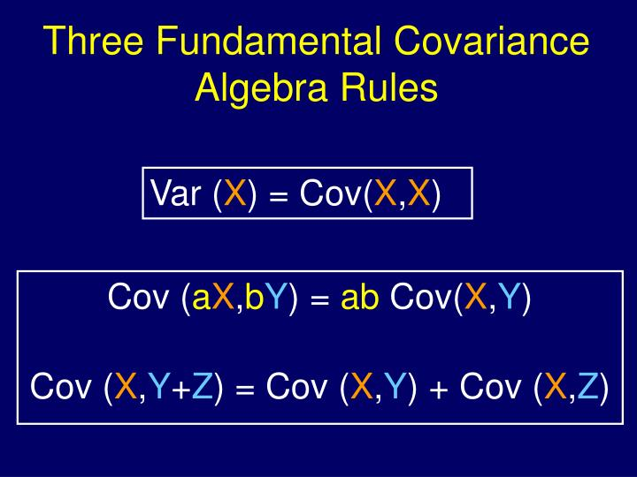 Three Fundamental Covariance Algebra Rules