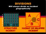 divisions will always divide an incident geographically