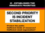 ic establishes the immediate priorities1