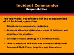 incident commander responsibilities